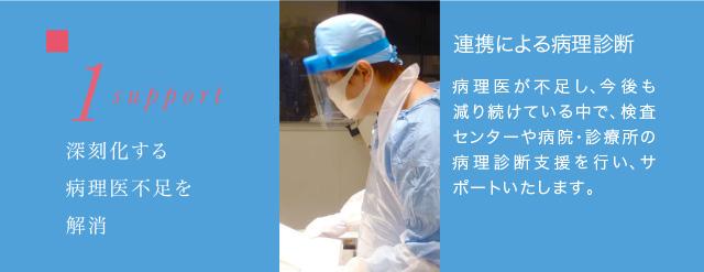1 support 深刻化する病理医不足を解消